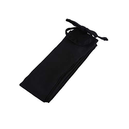 Delaman Angeln Ruten Schutz Hülle Portable Baumwolltuch Angelrute Ärmel Pole Cover Angelrute Abdeckung, 125cm (Color : Black)