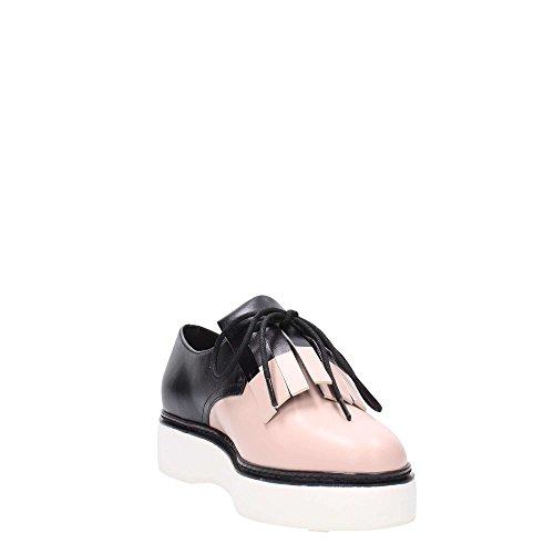 What For , Chaussures de ville à lacets pour femme rose rose Rose