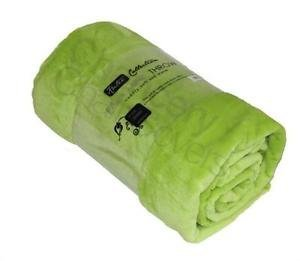 Casa & Deco in Rotolo Collection Coperta di Visone copridivano, Lime Green, 200 cm x 240 cm