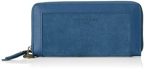 Liebeskind Berlin Damen Scouri 2-Sally Wallet Large Geldbörse, Blau (China Blue), 2x10x19 cm