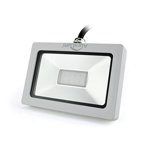 Auralum Ultraslim 10W LED Außenstrahler Strahler, 750lumen, Neutralweiß-4000k, IP65 Wasserdicht