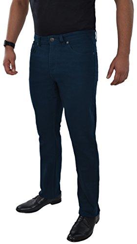 Herren Jeans Hose Straight Leg gerader Schnitt NEU Blue Petrol Jeanshose W30 bis W42 verfügbar Blau/Petrol