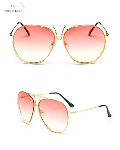 Wang-RX Fashion Classic Lady Oversized Pilot Sunglasses Women Sun Glasses For Men Big Frame Beach Glasses
