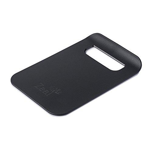 Zeal Dritto a Pan Slim Cucina Tagliere Board-Small (22,9cm/22cm), Nero, 21.5x 14.5x 2cm