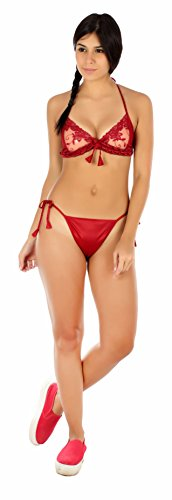 RIBLISS MAROON BIKNI SET