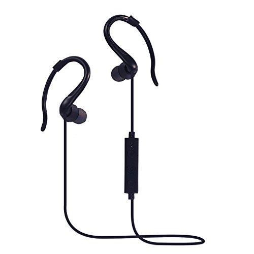 Generic Bluetooth Kopfhörer In Ear Halsband Sport Ohrhörer, 6-Stunden-Spielzeit, Bluetooth V4.1 für Joggen, Workout, Fitness, Headphones mit Mikrofon für IOS, Android, MP3 & Weitere - Schwarz