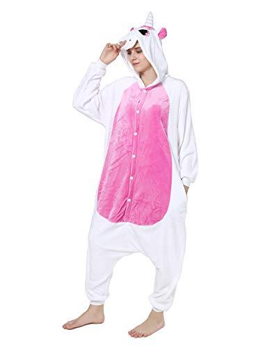 (GARYOB Einhorn Flanell Pyjamas Schlafanzug Cosplay Kostüm Karneval Xmas Party Jumpsuit Für Kinder Erwachsene)