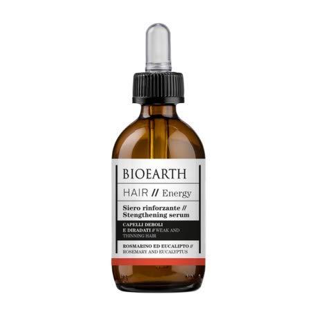 BIOEARTH - Suero fortalecedor con romero y eucalipto - para cabello débil y adelgazado - Acción energizante - Producto orgánico, probado en níquel, vegano - 50 ml