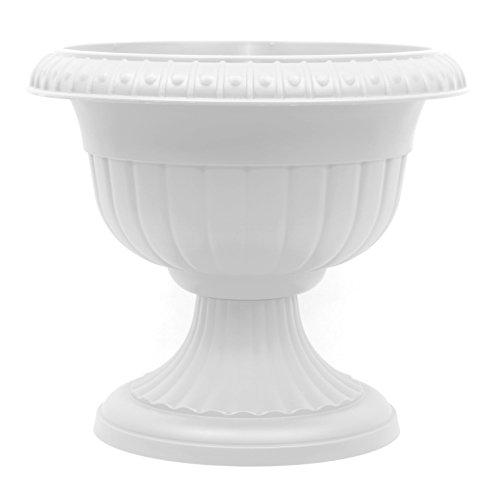 Pflanzkübel Blumenspindel Pflanzschale Roma ∅30cm Weiß
