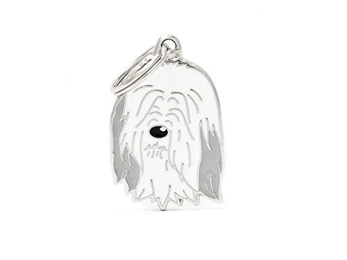 Plakette MyFamily Bearded Collie platte Hund kostenlosen Gravur Brauch Katze -