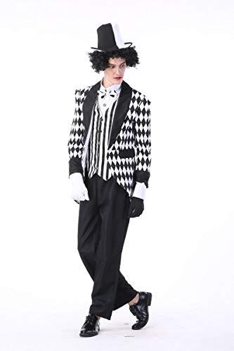 Simmia Halloween Kostüm,Halloween Kostüm _ Cosplay König Kostüm Zirkus Clown Magier Kostüm, 89346, L