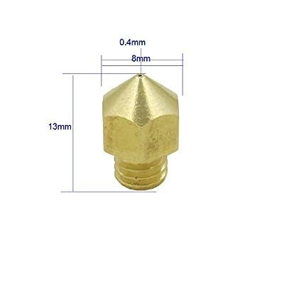 SIENOC 3D Extruder Düse 0,4 mm Messing Extruder Düse Druckköpfe für MK8 Makerbot Reprap-3D-Drucker