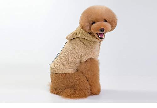 PZSSXDZW Herbst und Winter Pet Kleidung Netter Engel Fleece tragen Teddy Schnauzer Beige Large -