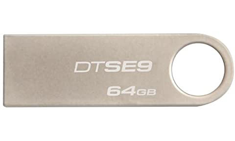 Kingston - DTSE9H/64GB - DataTraveler - Clé USB - 64 Go - Argent