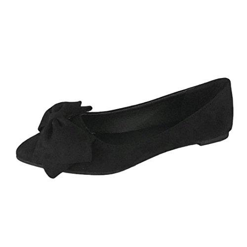 Ballerines Plates en Daim Femme,Overdose Soldes Chaussures avec Nœud Danse  Automne Hiver Causal Slip b7a3e216dfcf