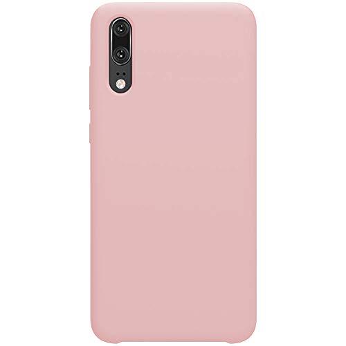Funda Huawei P20 Lite / P20 Pro Carcasa Silicona Suave Gel TPU Case Full protección Anti-Golpes Rasguño y Resistente Teléfono Móvil Cover Cubierta Trasero Tapa para P20 (Rosado, Huawei P20 Lite)