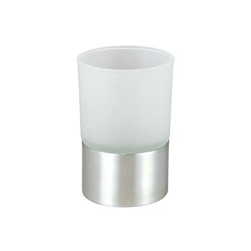 Badserie Ambiente Ersatzglas f/ür Zahnputzbecherhalter aus satiniertem Glas