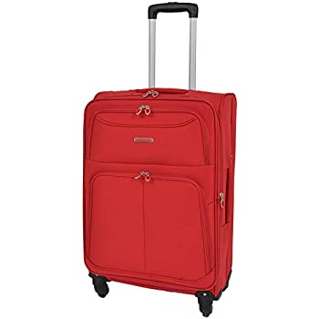 Super Léger Bagage 4 Roue Valise Rouge Extensible étui souple sac de voyage