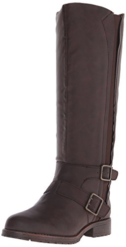 Kenneth Cole Reaction Jenny Stride Damen Rund Mode-Knie hoch Stiefel Brown