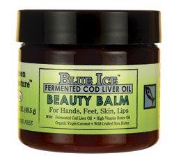 Green Pasture Blue Ice FCLO Beauty Balm | mit Shea-Butter, Butteröl, Kokosöl und fermentierten Lebertran | Nahrung für die Haut | 49,5 g