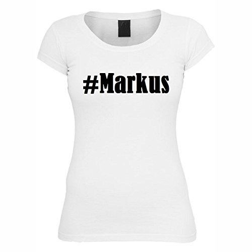 T-Shirt #Markus Hashtag Raute für Damen Herren und Kinder ... in der Farbe Weiß Weiß