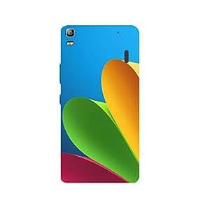 Stubborne Lenovo K3 Note Multicolor Spiral Pages 3D Printed Mobile Back Cover / Case