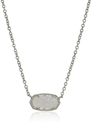 kendra-scott-signature-elisa-pendant-necklace-ottone-placcato-al-rodio-colore-iridescent-drusy-rhodi