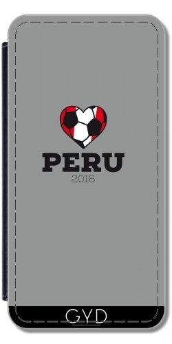 Custodia in PU Pelle per IPhone 5/5S - Camicia Di Calcio Peru 2016 by ilovecotton