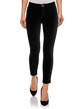 oodji Ultra Mujer Pantalones Ajustados de Tejido de Terciopelo