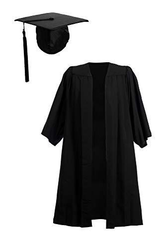 Ashington Gowns Toga e Cappello di Laurea, Toga di Laurea a Pieghe Economica e Tocco con Elastico Cappello di Laurea Medium