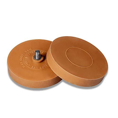 2x Radierer zum Entfernen von Kleberesten und Folienresten | 1x Adapter | Benbow Folienradierer Zierstreifen | Vanille-Geruch |  KFZ 90mm