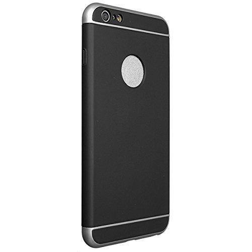 Luxe Matte PC Hard Cover Case Bumper pour iPhone 6 / 6S plus 5.5inch noir