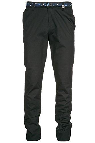 Versace Jeans Herrenhose Herren Hose slim gabardine Schwarz EU 34 (UK 34) A2GRA104 (Slim Gabardine)