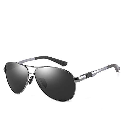 LKVNHP Oversized Herren Sonnenbrille Polarisierte Aviation Sonnenbrille Für Mann Große Brillen Gespiegelte Hd Polaroid Driving SonnenbrilleGrau Schwarz