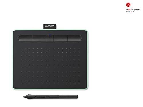 Wacom Intuos S pistaziengrün Stift-Tablett – Mobiles Zeichentablett zum Malen & Fotobearbeitung mit druckempfindlichem Stift & Bluetooth – Kompatibel mit Windows & Mac