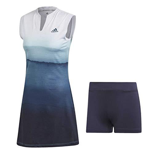 adidas Damen Parley Kleid White/Easy Blue L