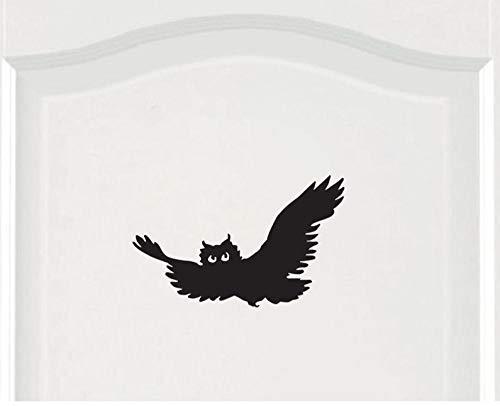 Wandaufkleber Owl Flying Bird Wandkunst Aufkleber Tür Aufkleber Home Room Decor23,1 * 14,75 cm -