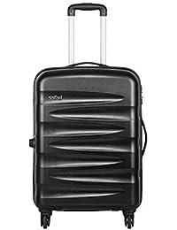 Safari Wedge Polycarbonate 65 cms Black Hardsided Check-in Luggage (WEDGE654WBLK)