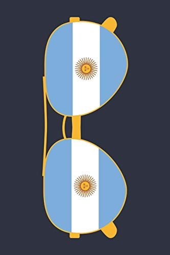 Argentina Notebook 'Argentina Sunglasses' - Holiday Planner - Argentine Flag Diary - Argentina Travel Journal: Medium College-Ruled Journey Diary, 110 page, Lined, 6x9 (15.2 x 22.9 cm)