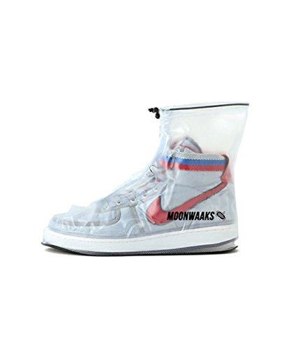MOONWAAKS Sneaker-Protect, perfekt für Festivals, 100% wasserfest, Regenschutz (L/US 6,5/EU 39-40, Schwarz)