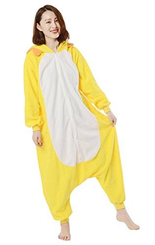 DATO Tier Pyjama Gelb Löwe Erwachsene Unisex Cospaly Onesies Nachtwäsche gelb löwe
