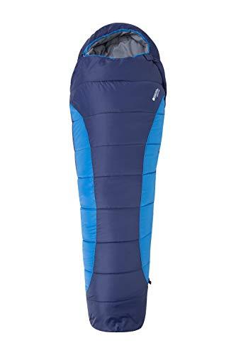 Mountain Warehouse Saco de Dormir Summit 300-23 x 41 cm - Cómodo, Saco de Dormir cálido, Saco de Acampada Tipo Momia, Cremalleras bidireccionales