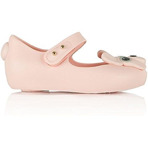 Melissa Mini niños Ultragirl francés Bulldog Velcro zapatos para bebé, color rosa