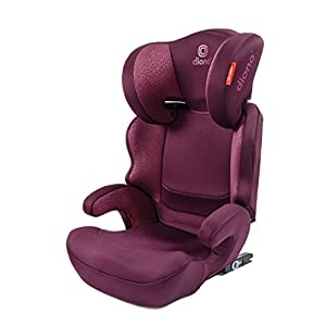 Diono Everett NXT Fix Highback Booster Seat - 7 Position Adjustable Headrest, Group 2/3 (15 - 36 kg and Up to 160 cm In Height), Approx. 4-12 Years, Plum   1