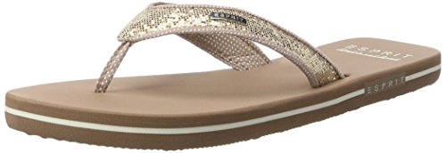 ESPRIT Glitter Thongs, Zoccoli Donna Beige (295 Cream Beige)