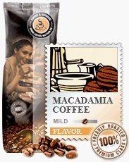 Aroma-Kaffee Macadamia 1000g Bohnen