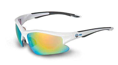 Nexi Sportbrille Sonnenbrille mit Revo-Beschichtung S-5C, weiß