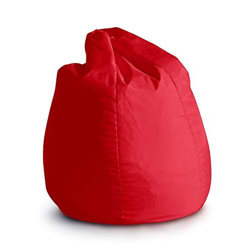 Avalon Pouf Poltrona Sacco per Bambini BAG Jive 65x65x90cm Made in Italy in  tessuto antistrappo imbottito colore Rosso