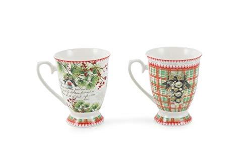 Villa d'Este Home Tivoli 2190622 Set aus 2 Mug, mehrfarbig -