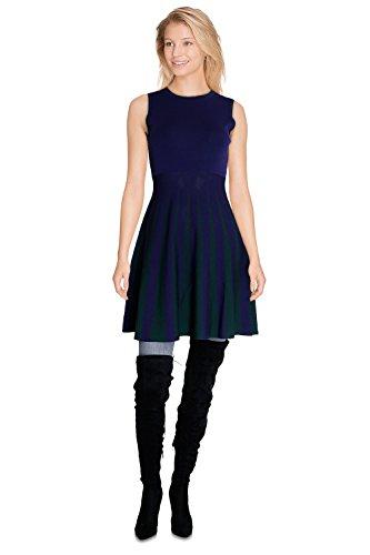 CHERRY PARIS Damen Kleid Kleid, Gestreift Marine